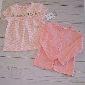 🌻 Carter's Girls Dress Sweater Outfit